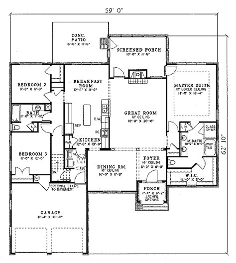 european style floor plans european style house plan 3 beds 2 baths 2014 sq ft plan