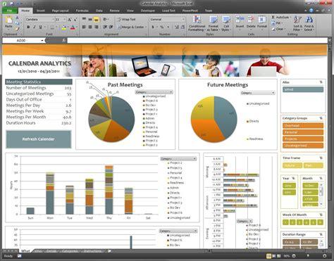 Analytics Excel Dashboard Template by Calendar Analytics Dashboard