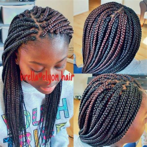 medium box braids with color small to medium size box braids done with color 30 and 1b