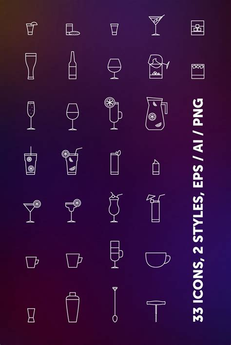 eps format graphics free bar drinks icons in vector format dribbble graphics