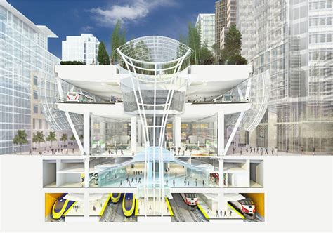 sections of san francisco transbay transit center to fill downtown with people not