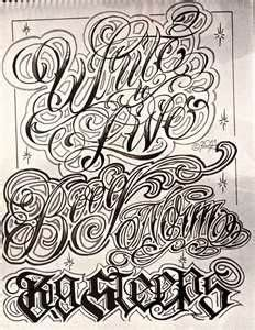 tutorial lettering chicano gangster letter tattoo tattoo art pinterest search