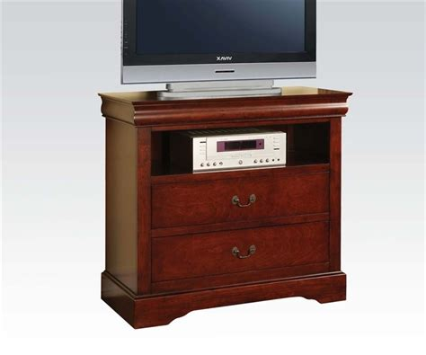 acme furniture louis phillipe iii cherry finish louis philippe iii 6 piece bedroom set in cherry finish by