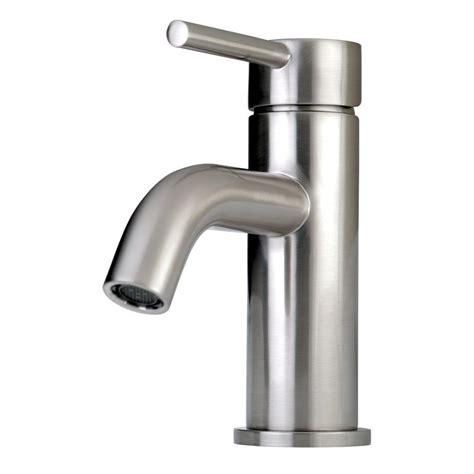 kingston brass contemporary single hole  handle high arc bathroom faucet  satin nickel