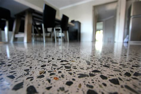polished concrete honed but not grinded potentially a full exposure gallery