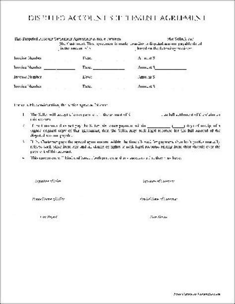 simple payment agreement template 9 best images of payment settlement agreement template