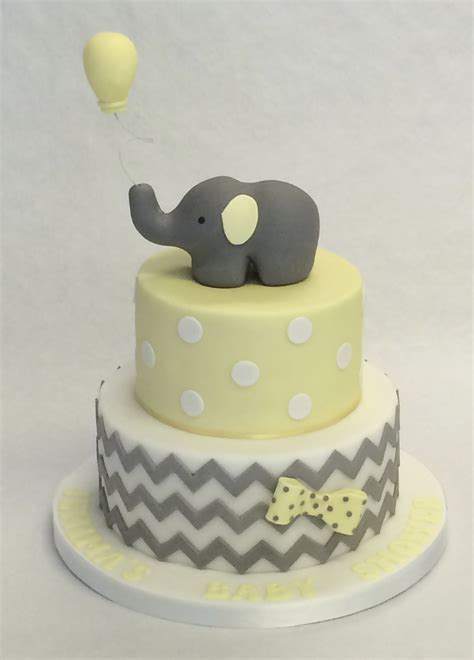 Baby Shower 2 Tier Cakes by 2 Tier Elephant Baby Shower Cake Baby Shower Cakes