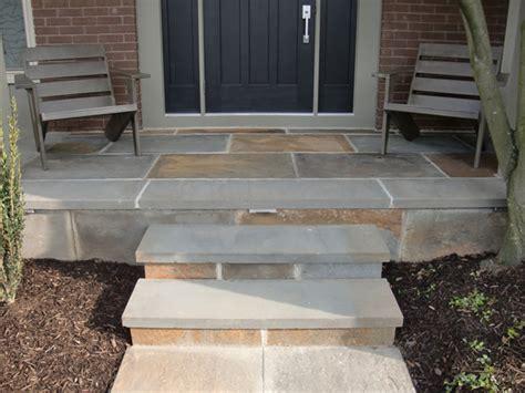 bluestone brick front entrance steps masonry patios custom masonry spellacy s turf lawn inc