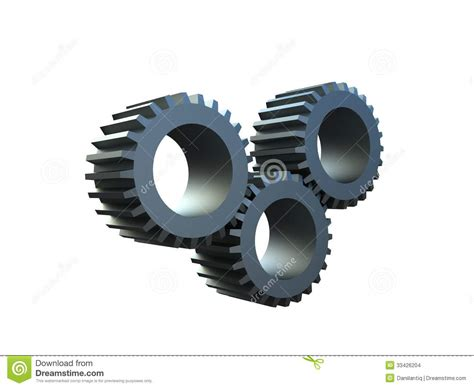 Toothed Wheel three dimensional toothed wheels stock images image