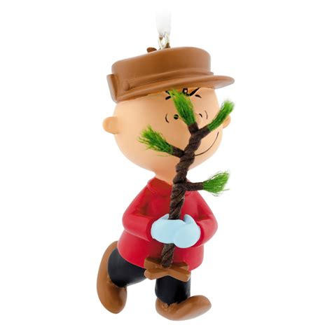 hallmark peanuts charlie brown christmas tree ornament