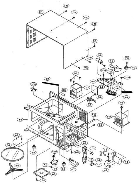 sharp microwave parts diagram refrigerators parts sharp microwave parts