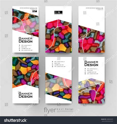 creative flyer design vector abstract vector brochure template flyer layout stock
