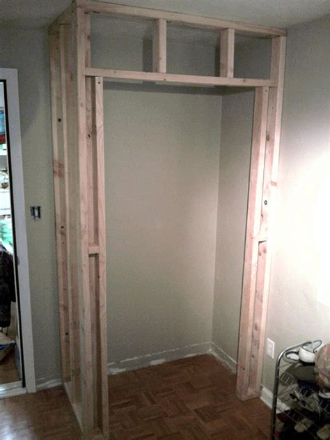 how to build a bedroom closet framing is finished tutorials room and basements