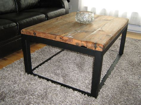 Handmade Iron - custom wood and iron coffee table by baywood custom