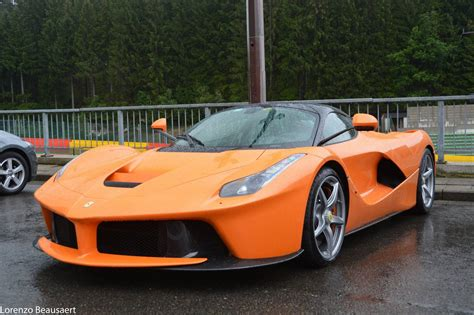 orange ferrari orange ferrari laferrari snapped at spa gtspirit