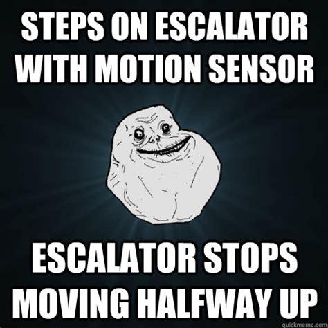 Motion Memes - steps on escalator with motion sensor escalator stops