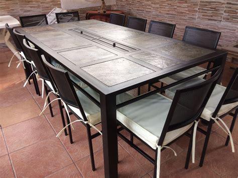 comedor de terraza comedor terraza fierro modelo chicureo 12 sillas rusti