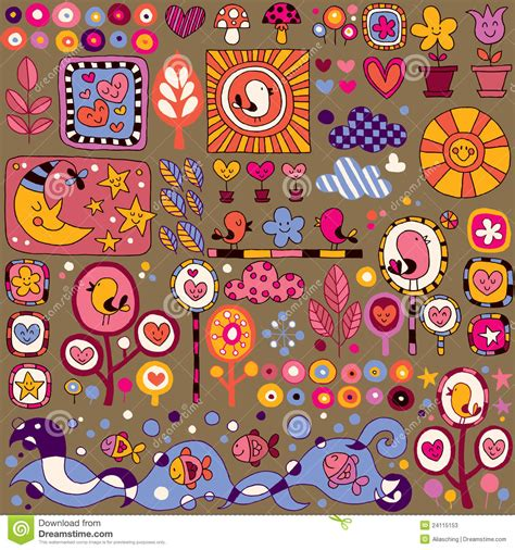 pattern nature colorful colorful nature cartoon pattern stock photos image 24115153