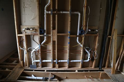 bathroom rough plumbing master bathroom reconstruction begins geeky girl engineer