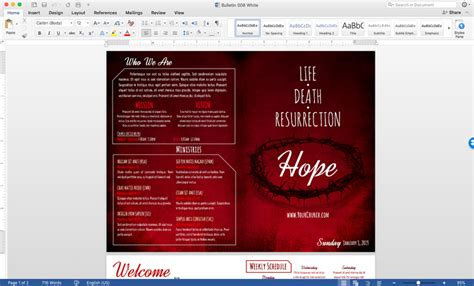 church bulletin template microsoft word free church bulletin templates 8 professionally designed