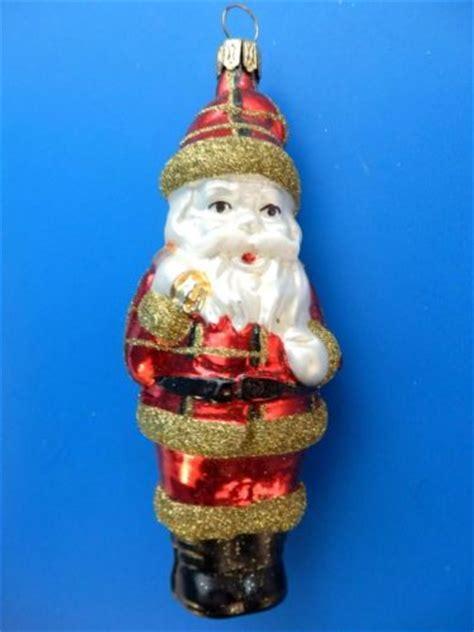 german blown glass ornaments german blown glass ornament santa gold
