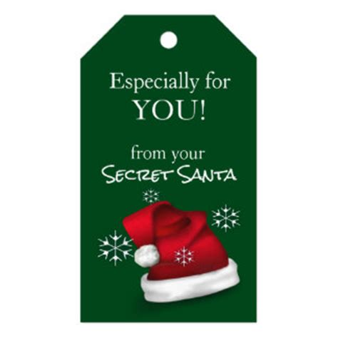 gifts for your secret secret santa gift tags zazzle