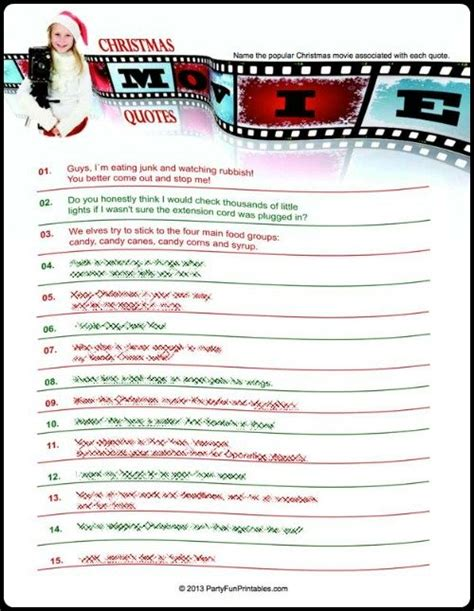 christmas movie games printable free christmas party games for interactive yuletide fun