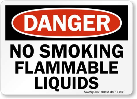 no smoking signs and labels osha warning no smoking flammable liquids osha danger sign sku s