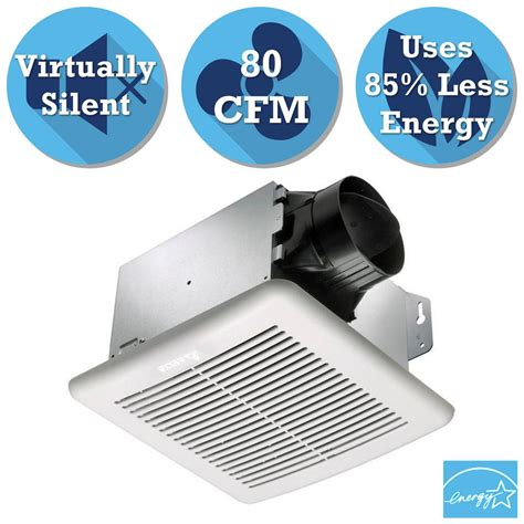 no exhaust fan in bathroom hton bay 80 cfm no cut ceiling humidity sensing bath