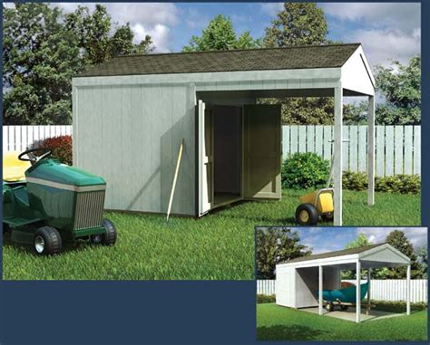 Sheds With Carports by Project Plan 90044 Car Port Shed