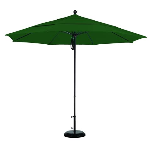 11ft Patio Umbrella 11 Ft Sunbrella Pulley Patio Umbrella With Bronze Pole Dfohome