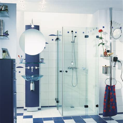 white and blue tiles in bathroom modern blue and white tiles bathroom design