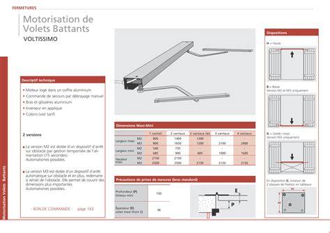 Motorisation De Volets Battants 2501 by Motorisation De Volets Battants Syst Me Pour La
