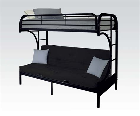 Black Metal Futon Bunk Bed Black Metal Bunk Beds Metal Bunk Bed In Black Decorate My House