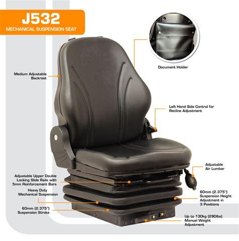 J532 Black j532 height adjustable mechanical suspension seat