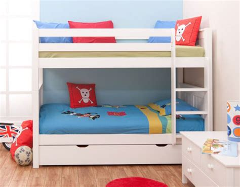 bunk beds boys classic kids bunk bed white