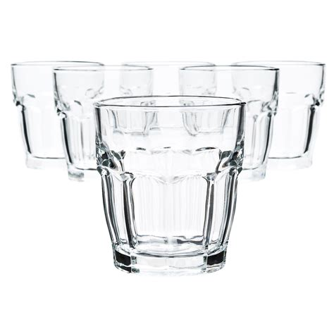 Rock Bar Glasses Bormioli Rock Bar Glass Tumblers 6 75 Fl Oz Set