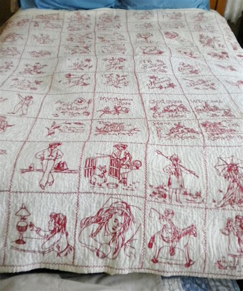 Redwork Quilt by Redwork Quilt C1900 S Collectors Weekly