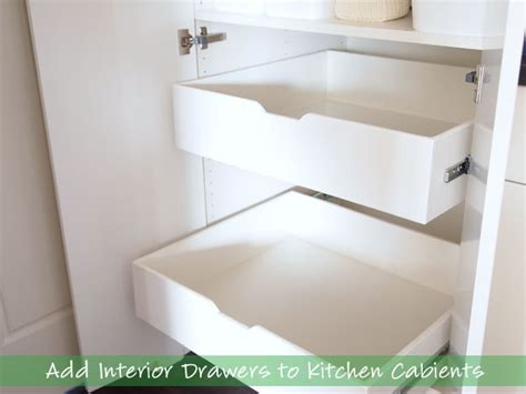 adding drawers to cabinets how to add interior drawers to kitchen cabinets