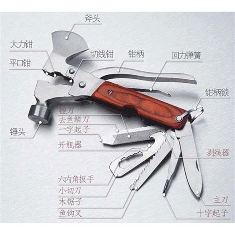 Multifunctional Edc Axe Hammer Survival Tools multifunctional edc axe hammer survival tools silver jakartanotebook