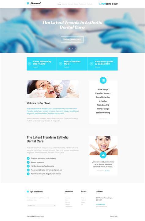 Dentistry Responsive Website Template 47523 Dental Landing Page Template