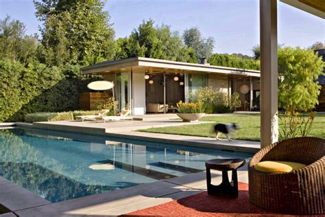 outdoor living mid state pools adding bright pops of color into modern mid century home