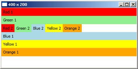 xaml horizontal layout wpf layouts a visual quick start codeproject