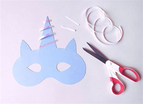 How To Make A Paper Unicorn - how to make a magical unicorn mask paperchase journal