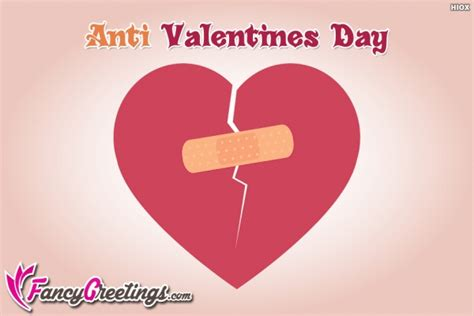 anti day cards happy anti valentines day