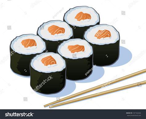 cartoon rolls salmon sushi cartoon www imgkid com the image kid has it