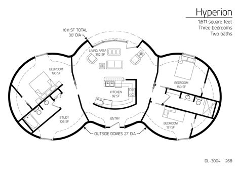 monolithic dome floor plans floor plan dl 3004 monolithic dome institute