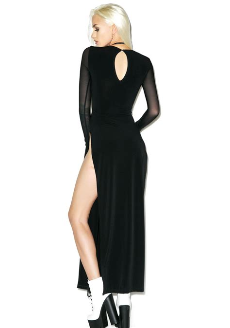 Maxi Coco Gl black wednesday black label maxi dress dolls kill