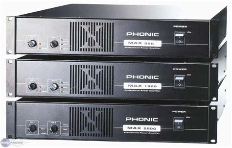 Phonic Max1500 Plus Power Lifier li sono phonic max1500 2x450w rms ile de audiofanzine