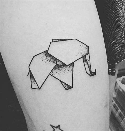 origami elephant tattoo 100 amazing dotwork ideas that you ll